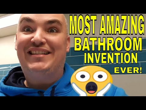 Most Amazing Bathroom Invention Ever!  Cool Bathroom Gadget Dyson Airblade Wash+Dry Faucet