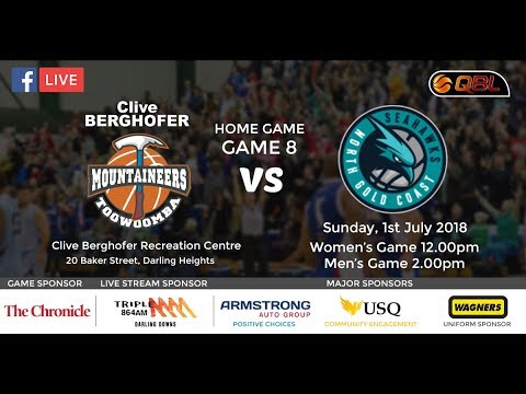 USQ QBL Live Stream Home Game 8 - Toowoomba Mountaineers vs North Gold Coast Seahawks