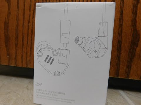 KZ Acoustics : ZS6 Earbuds (unboxing & review)
