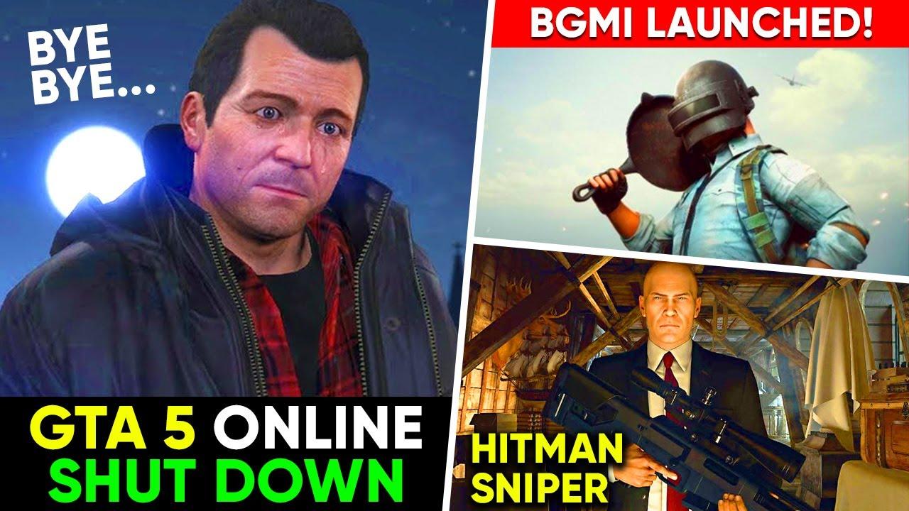 GTA 5 Online Shutdown 😱, BGMI Launched 😍, Hitman Sniper Mobile, Cyberpunk Comeback | Gaming News 39