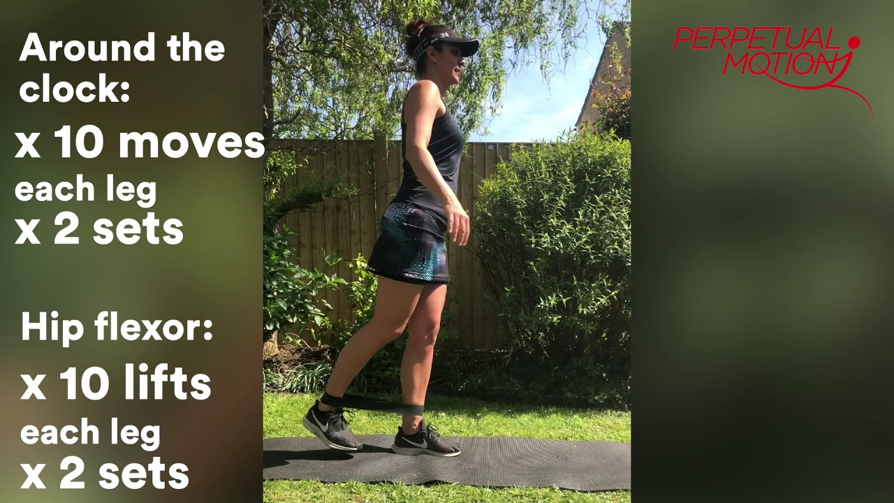 Strength training for runners - Band workout.