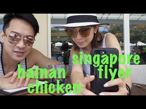 s&j 2 TOURiSTs in SiNGAPORE: hainan CHiCKEN singapore FLYER 宋熙年陳智燊 去新加坡 搵最正既海南雞飯