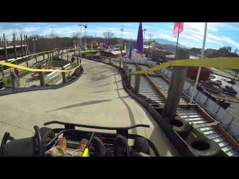 Go kart track in Pigeon Forge Tennessee