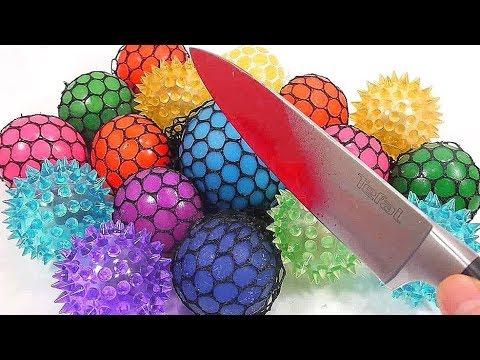 Bất ngờ khi cắt những quả bóng Slime màu bằng con dao nóng