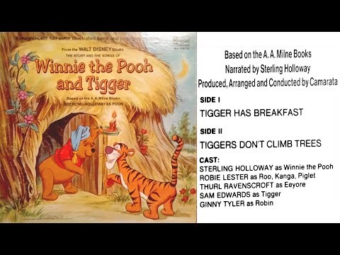 Winnie the Pooh and Tigger (1968) Disneyland Book and Record