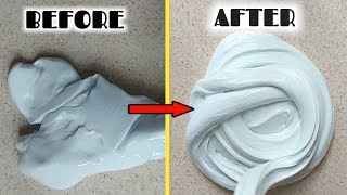 The best way to fix an old/ hard slime to fluffy slime