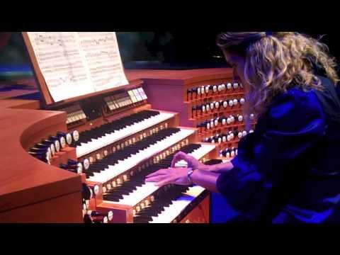 Joanne Pearce Martin LA Phil keyboardist plays Bach for Walt Disney Concert Hall organ 10th Bday
