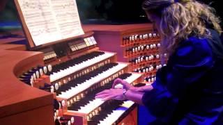 Joanne Pearce Martin (LA Phil keyboardist) plays Bach for Walt Disney Concert Hall organ 10th B-day