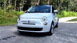 2017 Fiat 500C 1.4L Automatic - Startup and Drive Review