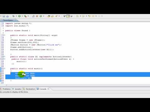 Java Tutorial - Add music/sound to java program: background music help