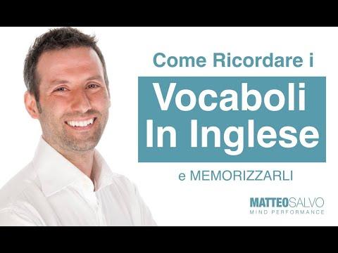 Come ricordare i vocaboli in inglese