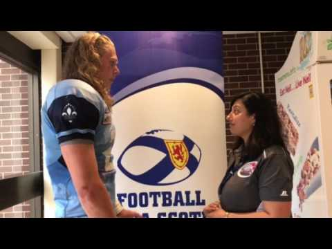 Postgame interview with Quebec DB Anton Haie