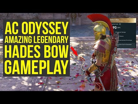 Assassins Creed Odyssey Gameplay E3  AMAZING LEGENDARY BOW In Depth Look AC Odyssey Gameplay