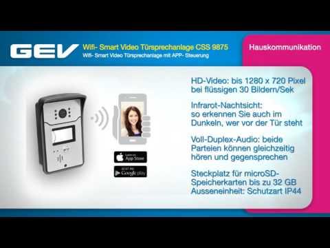 GEV Wifi- Smart Video Türsprechanlage CSS 9875
