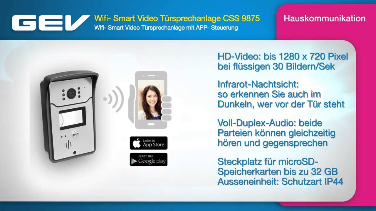 Gev Wifi Smart Video Tursprechanlage Css 9875 Youtube