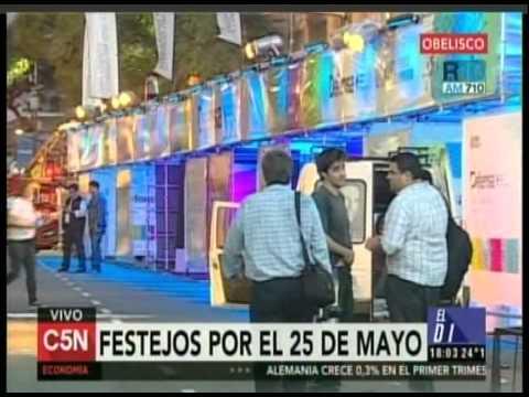 C5N - SEMANA DE MAYO: FESTEJOS EN EL OBELISCO (PARTE 1)