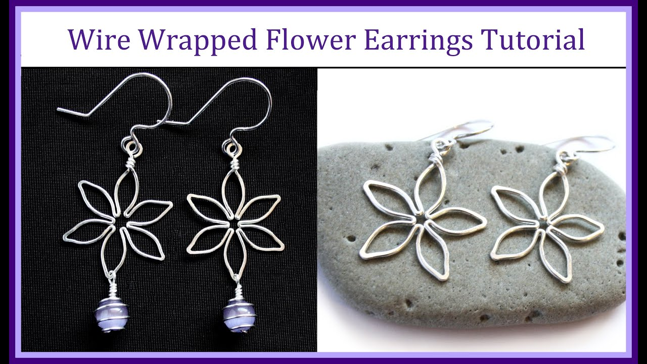 Easy wire wrapped jewelry tutorial flower earrings youtube solutioingenieria Image collections