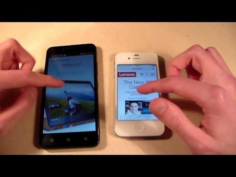 Lenovo Vibe C A2020 vs iPhone 4S (HD)