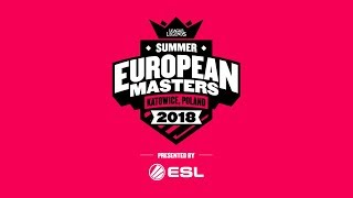 EU Masters Summer Season 2018 - Group Stage Day 2