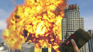 GTA V - Giant rocket and grenade explosions mod