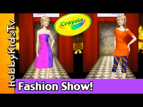 Crayola Virtual Design Pro Fashion Show Collection Hobbykidstv Youtube