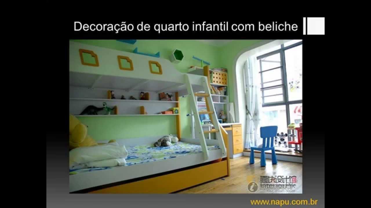 Decoração Youtube ~ Decoraç u00e3o de quarto infantil com beliche YouTube