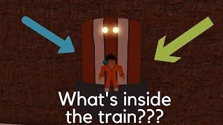 ROBLOX JAILBREAK GOING INSIDE THE TRAIN [GLITCH]