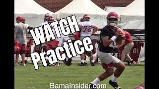 Watch Alabama Crimson Tide football practice during fall camp