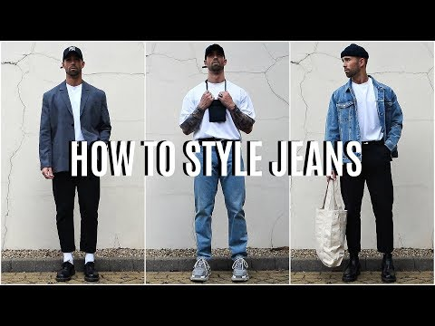 How To Style Jeans | 4 EASY Outfit Ideas | Men's Fashion