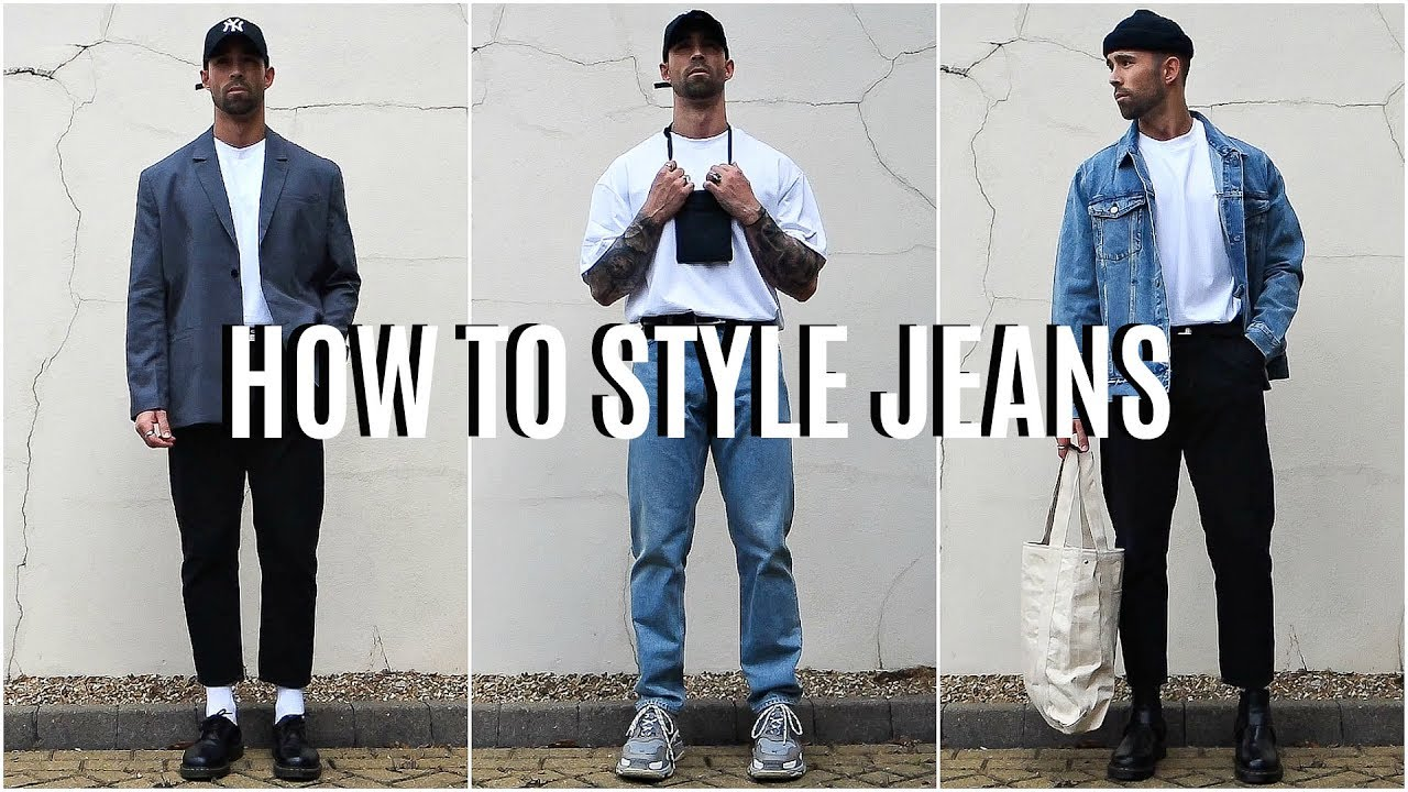 How To Style Jeans | 4 EASY Outfit Ideas | Men's Fashion 4