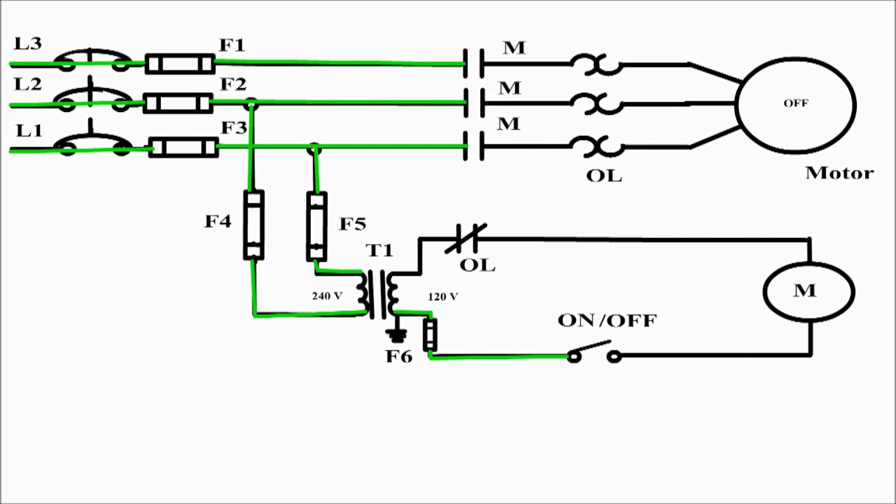 2 Wire Control Circuit Diagram Motor Control Basics Controlling three phase motor  YouTube