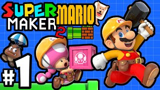 Super Mario Maker 2 Player - Nintendo Switch Gameplay Walkthrough PART 1: Story Mode & Multiplayer