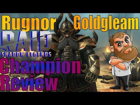 Raid Shadow Legends Rugnor Goldgleam Champion Review