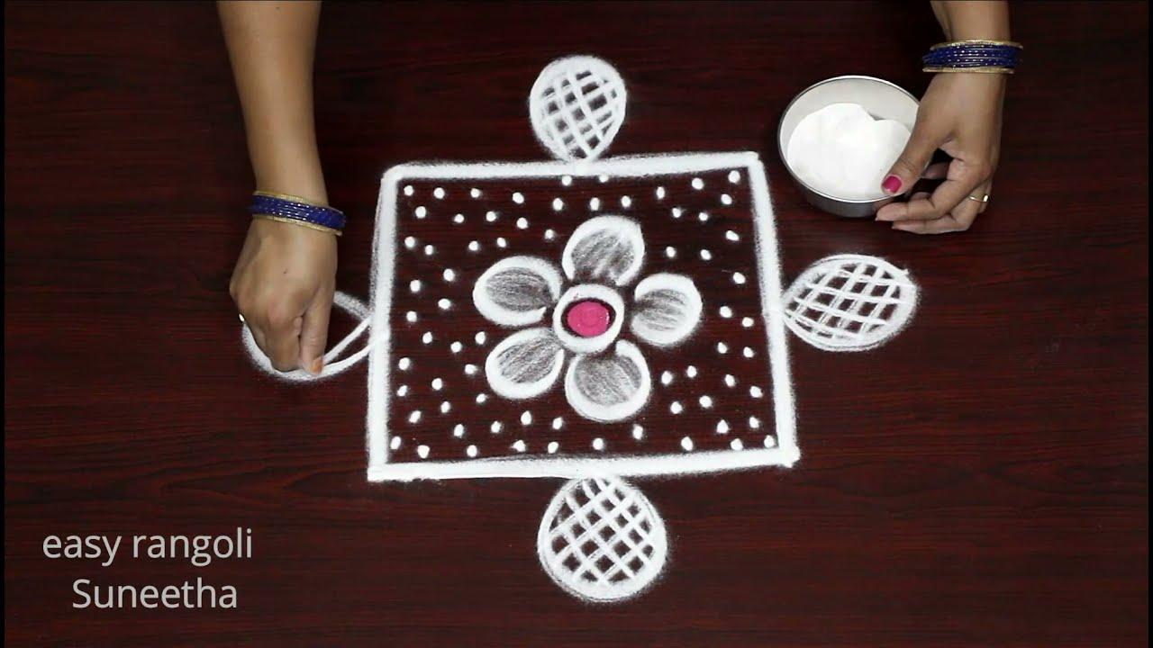 Easy & creative Door step rangoli designs by Suneetha || Simple Trendy rangoli || Amazing muggulu