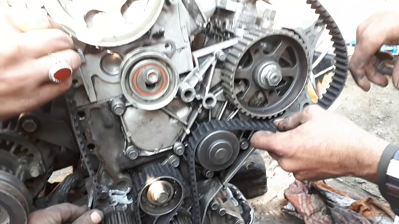 how to toyota 1c 2c 3c diesel engine timing installation urdu in hindi [ 1280 x 720 Pixel ]