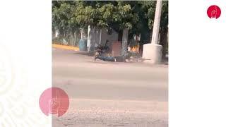 Hombres armados en las calles en el operativo de detención de Ovidio Guzmán