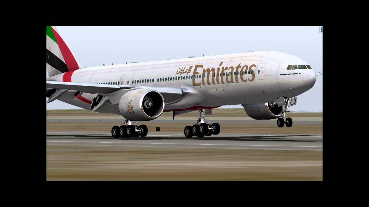 X Plane 10 Lax To Dubai Emirates B777 200lr Aka Ramzzess