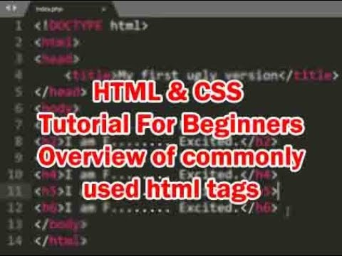 HTML and CSS Tutorial for Beginners  | Overview of commonly used html tags thumbnail