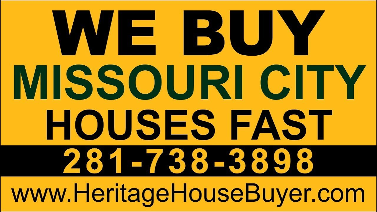 Sell My House Fast Missouri City | Call 281-738-3898 | We Buy Houses Missouri City