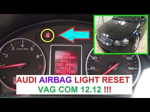 Audi A3 A4 A5 A6 A8 AIRBAG LIGHT RESET with VAG COM AUDI AIRBAG