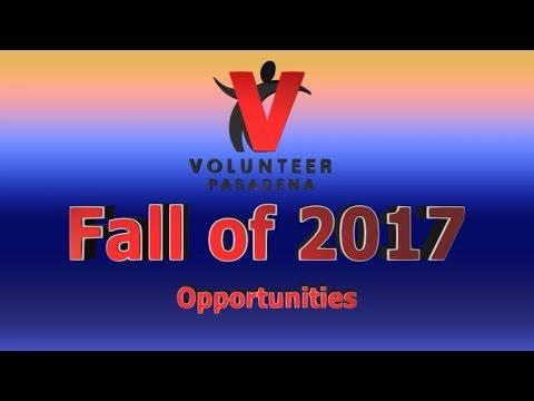 Volunteer Opportunities Fall of 2017