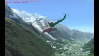 Short helicopter flight over Chamonix Mont Blanc with 3 screen shots