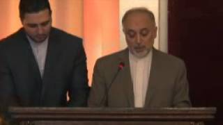 Speech by Foreign Minister Ali Akbar Salehi- Human Development Report 2013 launching ceremony