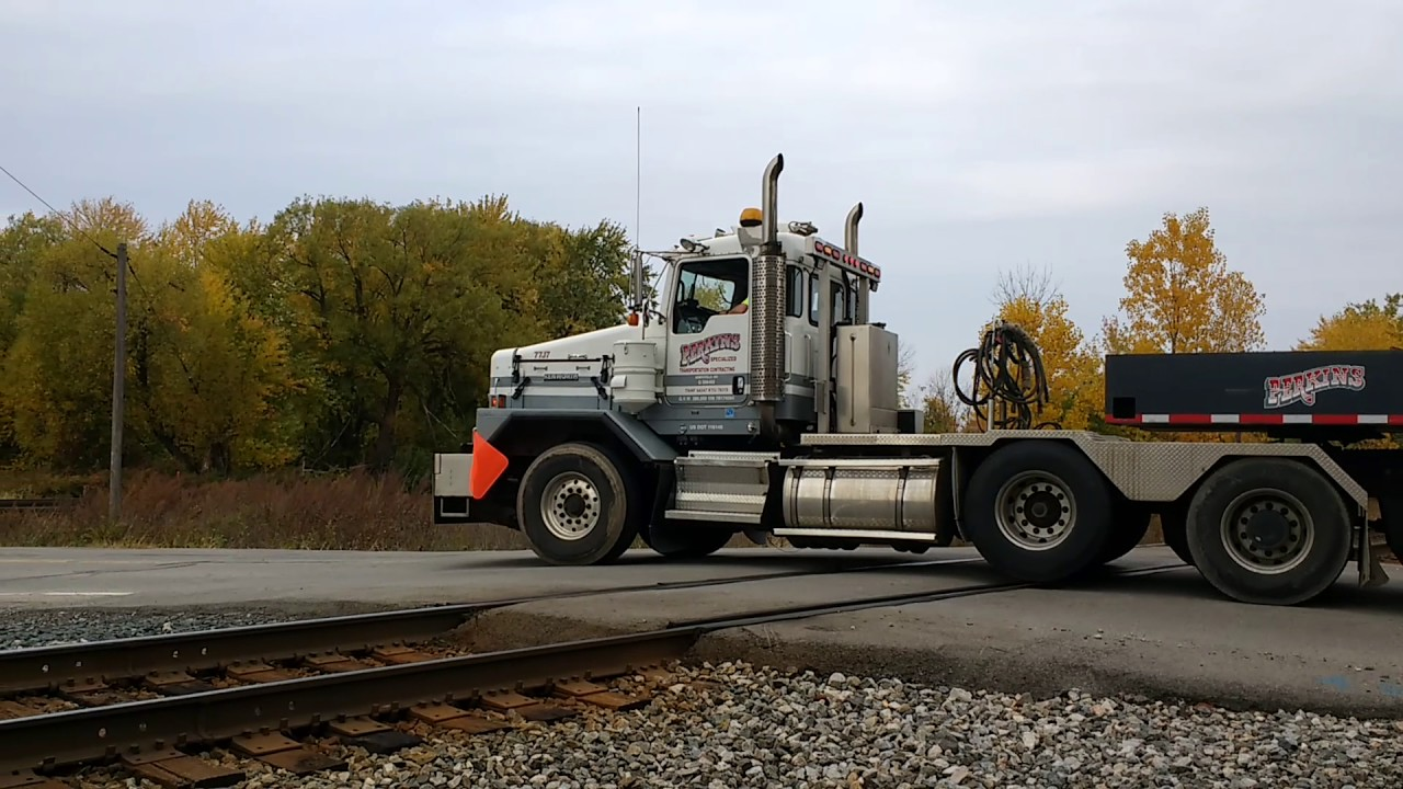 Funny Video: Nuclear Waste Truck Crossing Railroad Tracks
