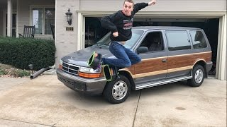 A Crazy Review of a 1991 Dodge Caravan AWD WOODIE!