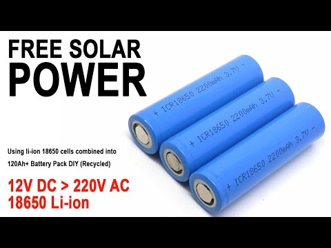 How to power your TV using 18650 Li-Ion batteries in 12v offgrid solar setup