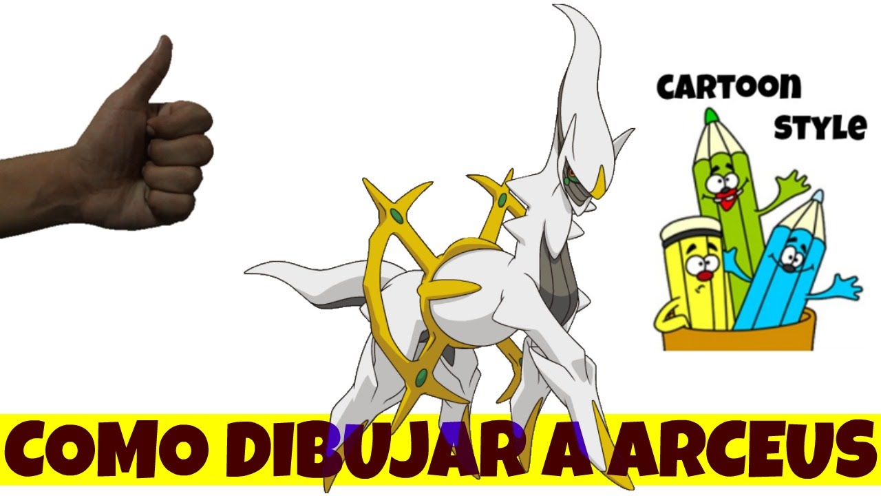 Como Dibujar Arceus - How to Draw Arceus - Pokemon - Cartoon Style ...