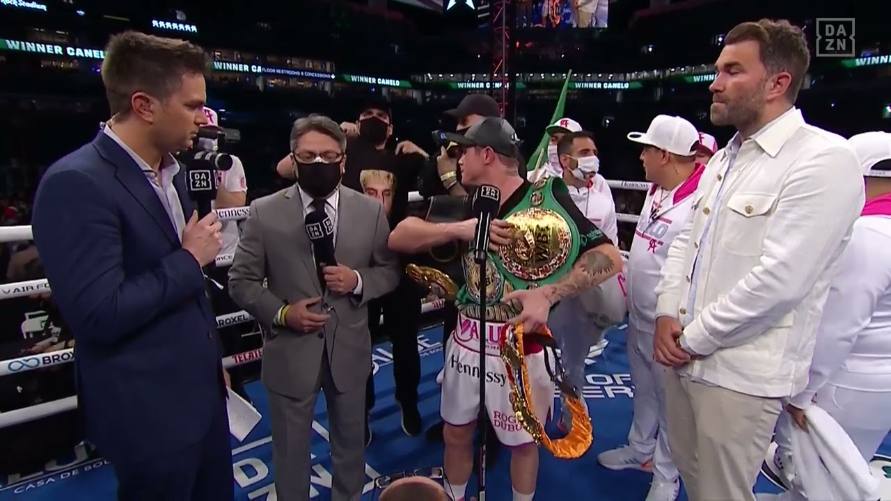 Don't Interrupt Canelo's Post-Fight Interview