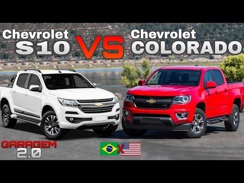 Chevrolet S10 Brasileira VS Chevrolet Colorado Americana - (Garagem 2.0)