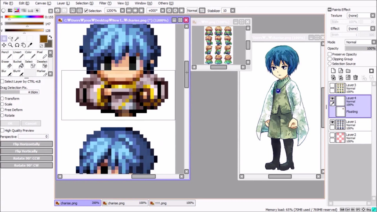 RPG Maker Sprite Editing Speedpaint